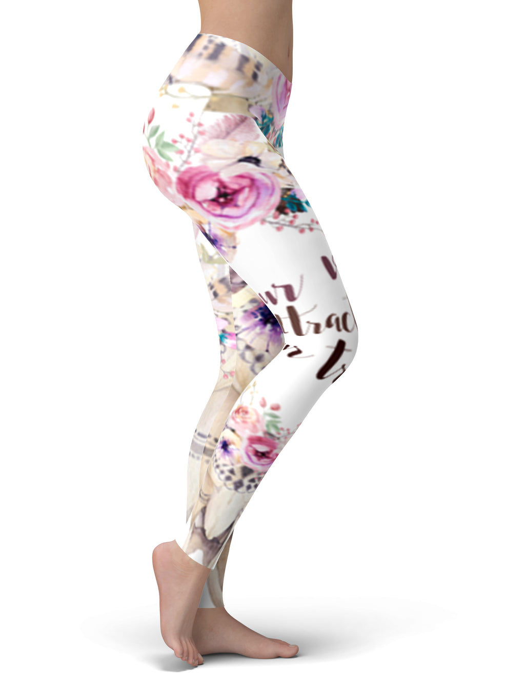 'Your Vibe Attracts Your Tribe' Yoga Pants - Aloki Athletica