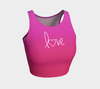Love Pink Red Yoga Crop Top