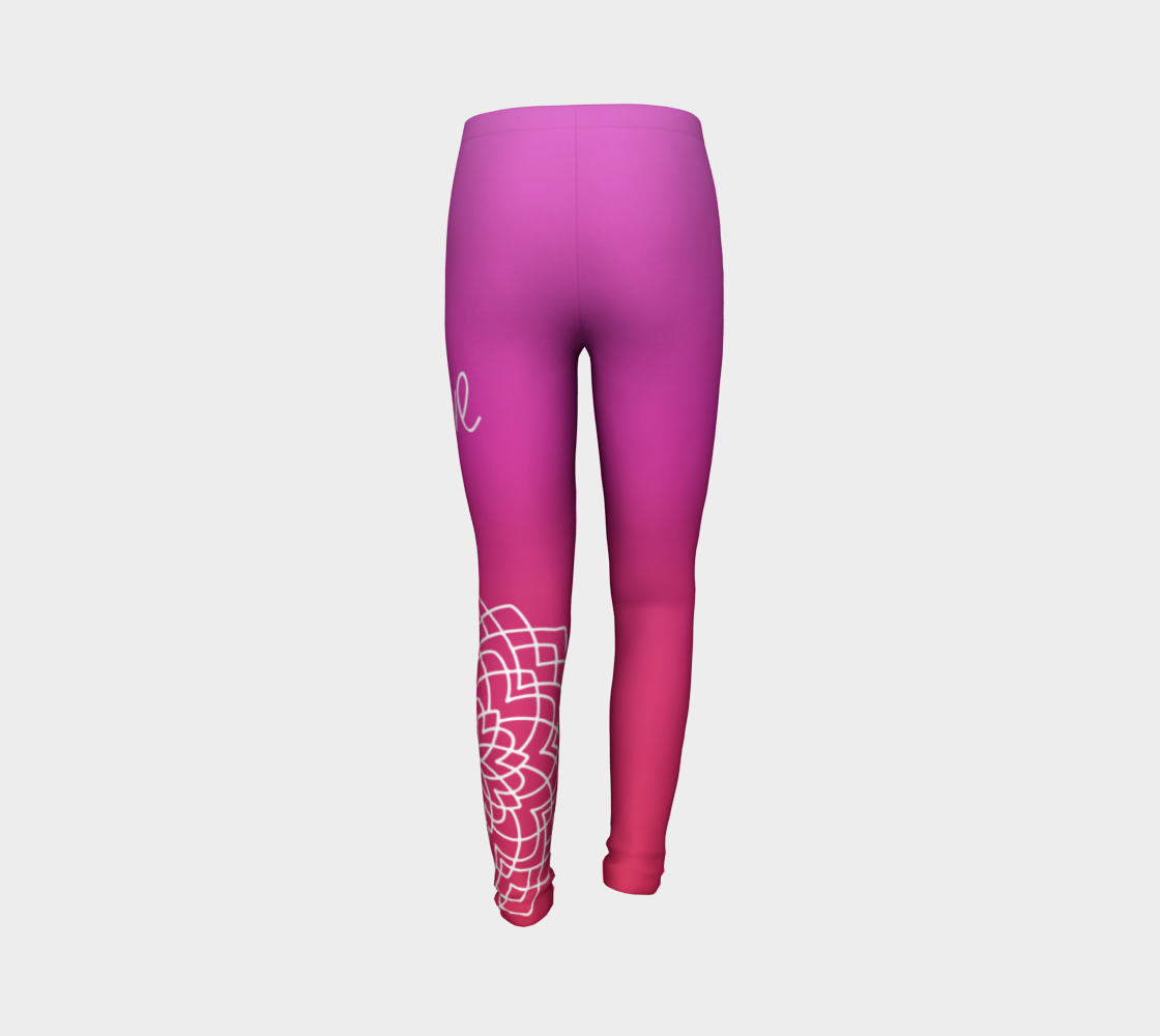 Love Pink Red Kids Leggings - Aloki Athletica