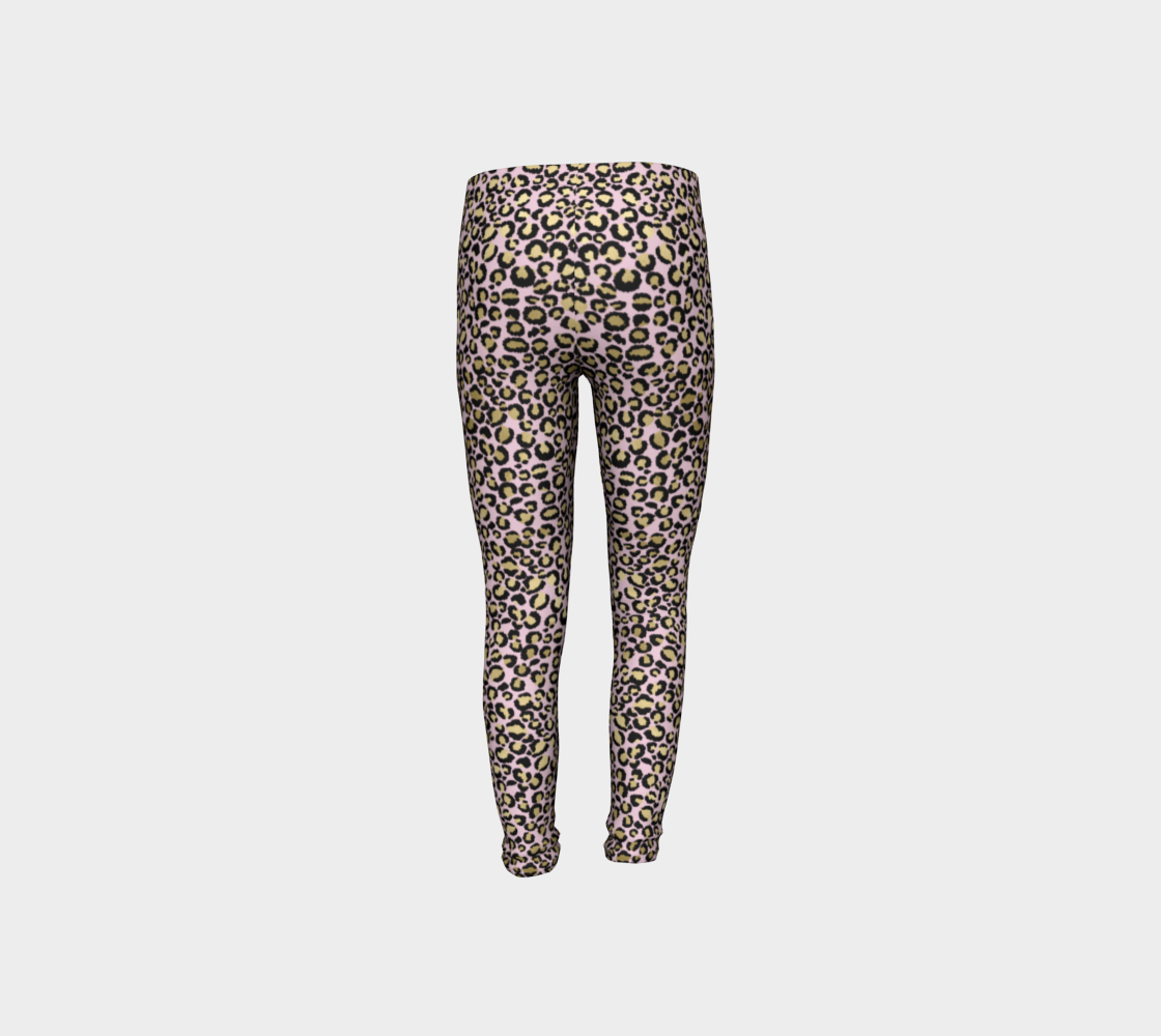 Leopard Pink Kids Leggings - Aloki Athletica