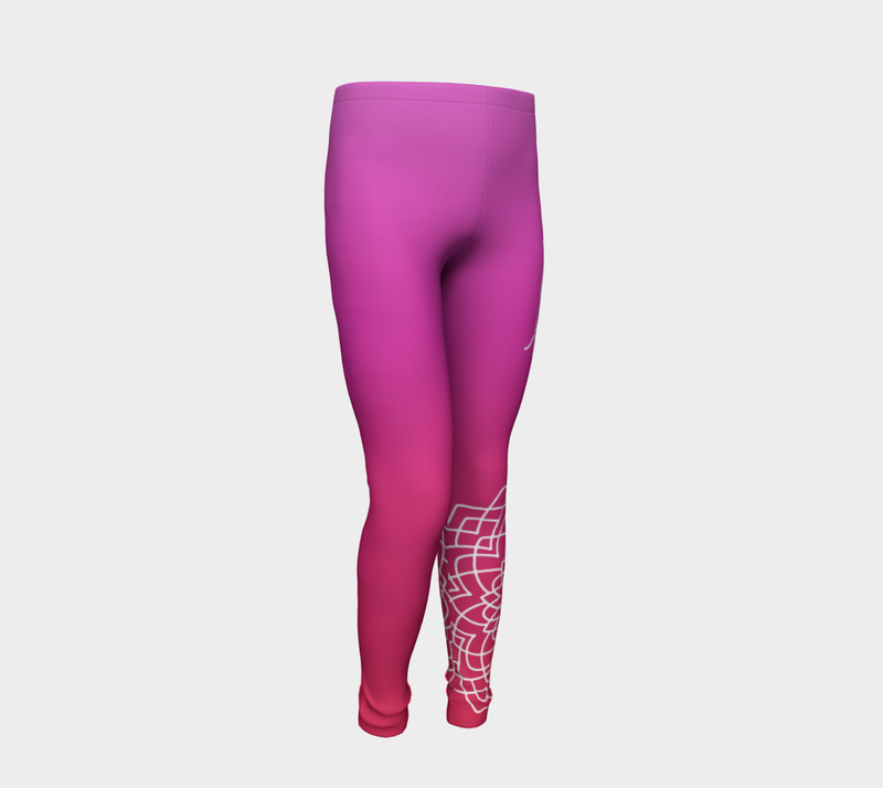Love Pink Red Kids Leggings