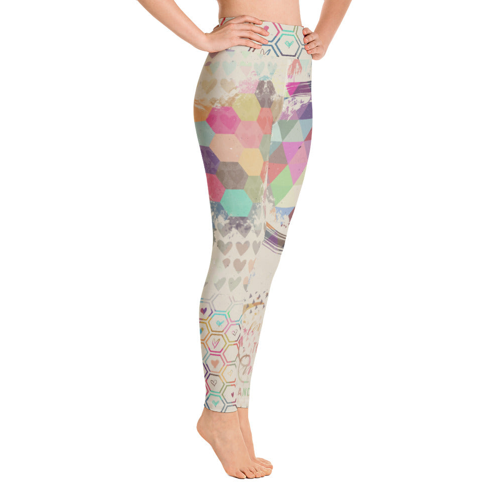 Love Birds Natural Yoga Leggings
