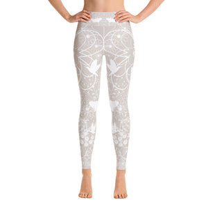White Butterfly Yoga Leggings - Aloki Athletica