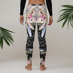 Black Bohemian Leggings - Aloki Athletica