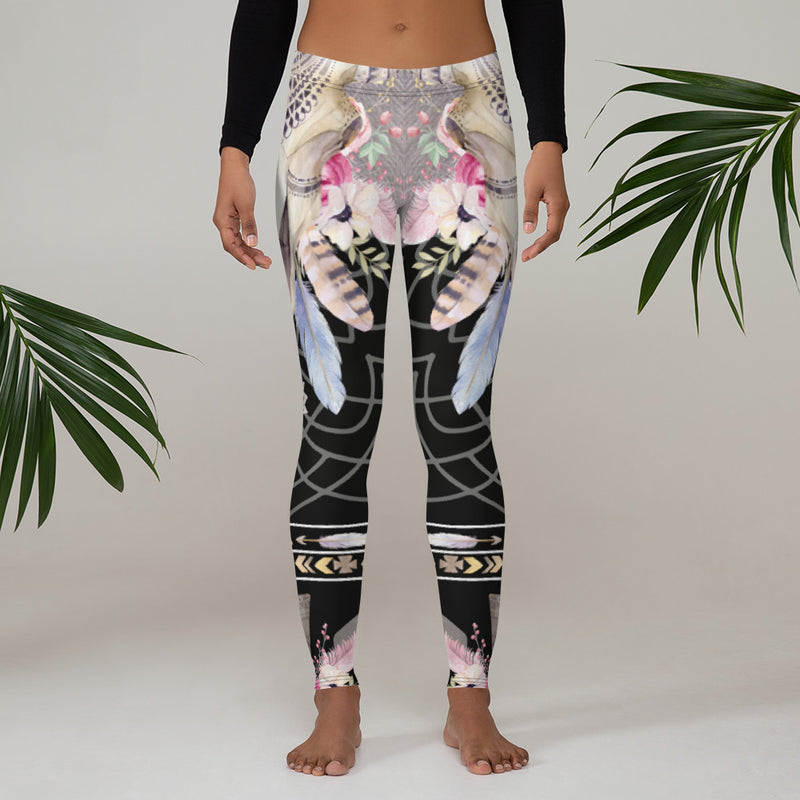 Black Bohemian Leggings