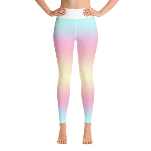 White Butterfly Yoga Leggings