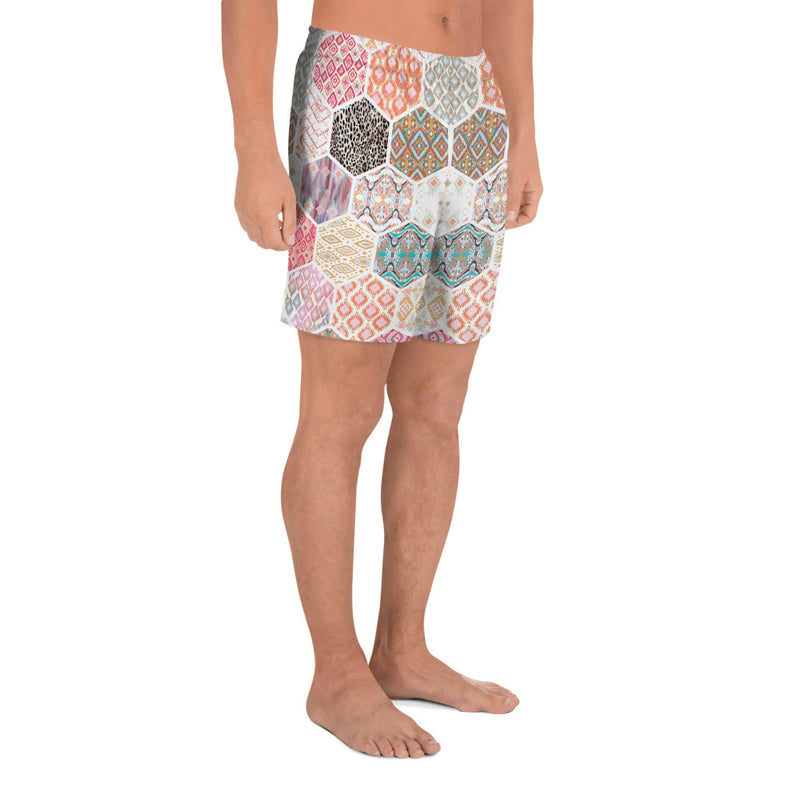 Kaleidoscope Men's Athletic Long Shorts