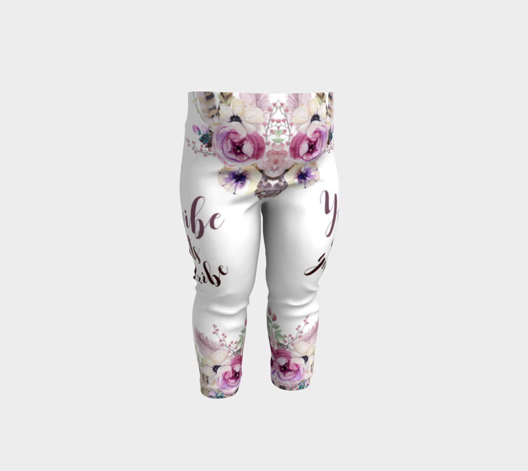 'Your Vibe Attracts Your Tribe' Baby Leggings