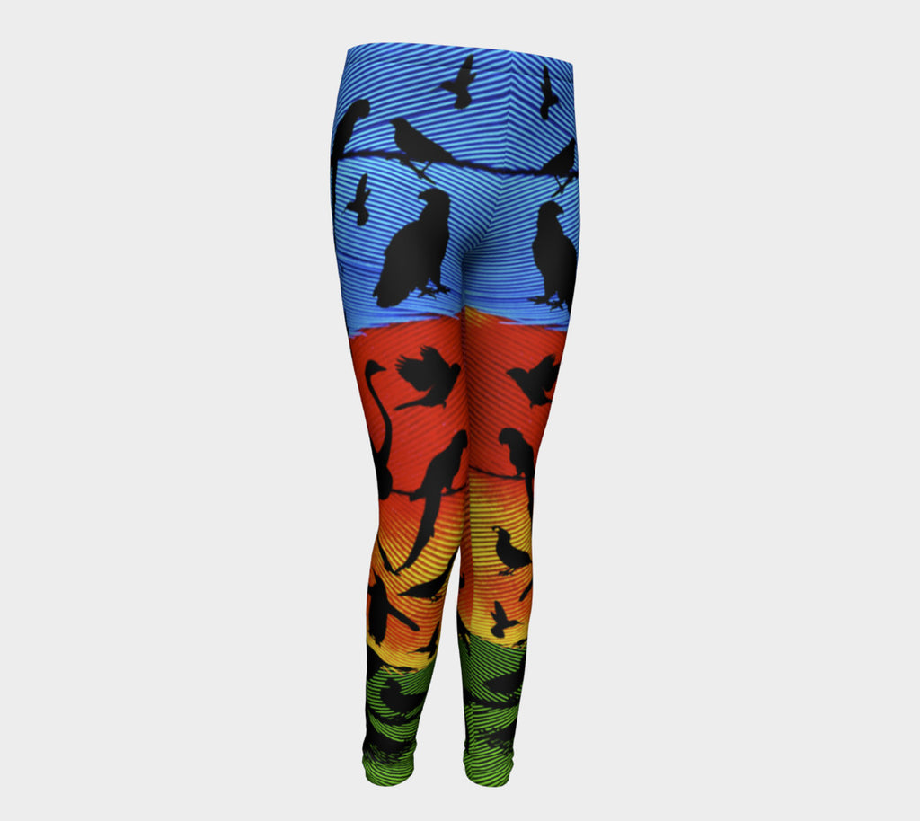 TyART for Aloki Athletica Macaw Kids Leggings - Aloki Athletica