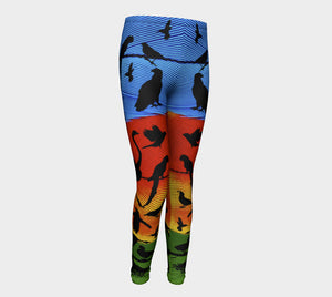 TyART for Aloki Athletica Macaw Kids Leggings