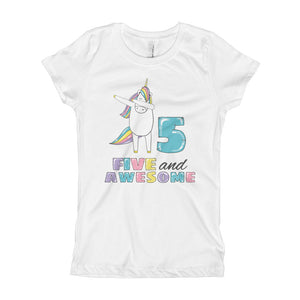 361ae86f2 Fifth Birthday Shirt - Five And Awesome Tshirt - 5 Years Old Birthday Gift  Outfit -