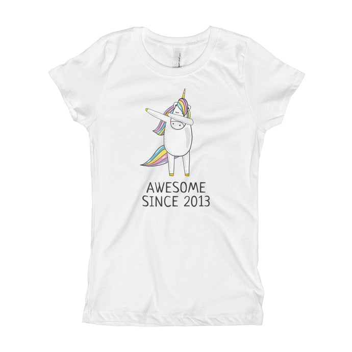 5c8c5e60a Youth And Kids T-shirt, Awesome since 2013, Dab Dance Unicorn Ma Birthday