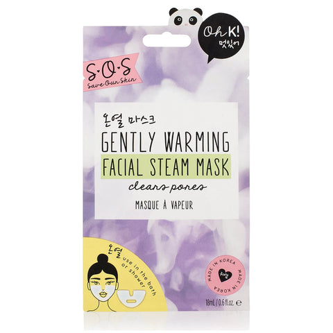 OhK! Gently warming facial steam mask