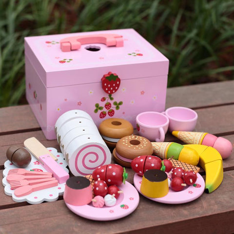 Afternoon Tea Set Pretend Role-Play Montessori Toy-Genuine Wooden Toys