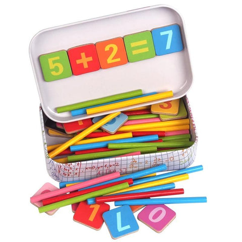 Arithmetic Rods Math Toy-Genuine Wooden Toys
