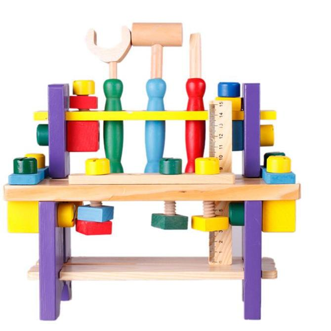 Educational Wooden Tool Project Workbench-Genuine Wooden Toys
