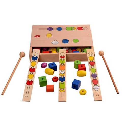 Montessori Bead Sequencing Set-Genuine Wooden Toys