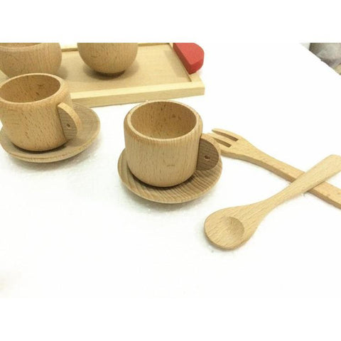 Nature Beech Wood Tea Set-Genuine Wooden Toys