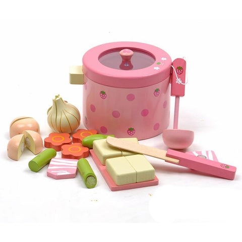 Pretend Play Vegetable Hot Pot Set-Genuine Wooden Toys