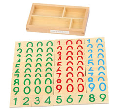 Small Wooden Unit Cards: Teach Tens, Hundreds, and Thousands!-Genuine Wooden Toys