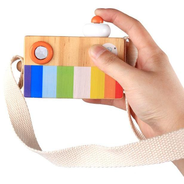 Wooden Camera Toy Kaleidoscope-Genuine Wooden Toys