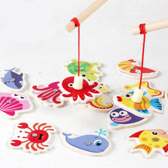 Wooden Magnetic Marine Fishing Toy-Genuine Wooden Toys