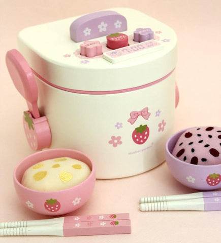 Wooden Rice Cooker Set-Genuine Wooden Toys