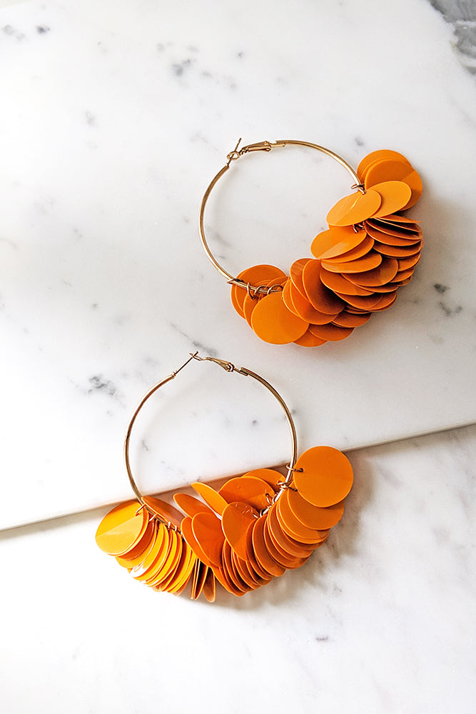 Round Big Hoop Disco Earrings