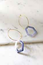 Resin With Hoop Earrings