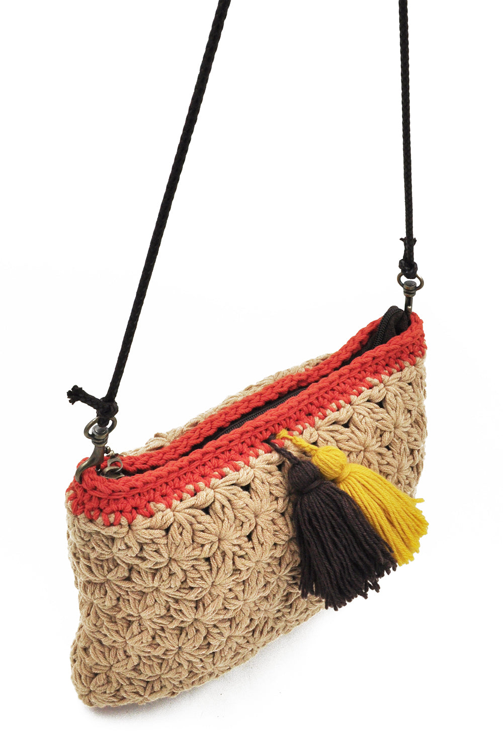 Marny Crochet Bag In Beige