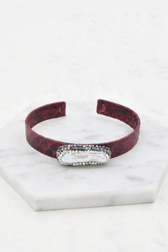 Anysley Cuff Bracelet in Wine