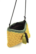 Marny Crochet Bag In Yellow