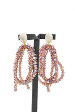 Chitsa Long Crystal Beads Earrings