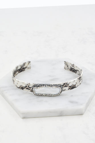 Anysley Cuff Bracelet in White