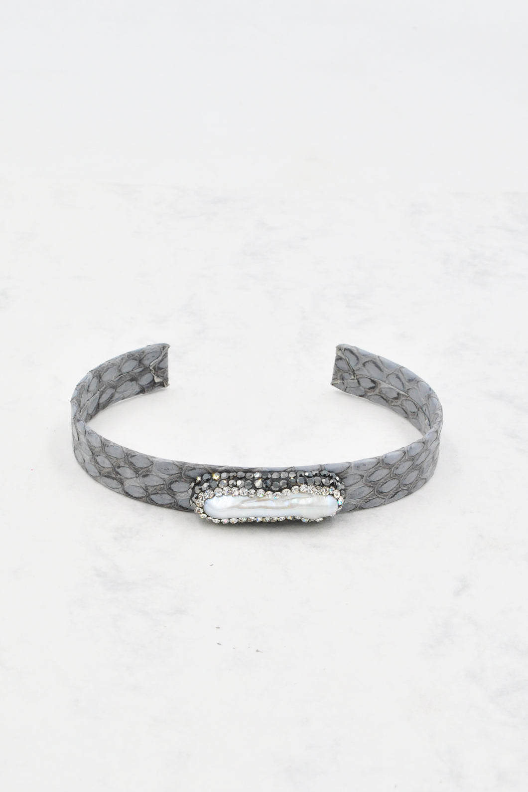 Anysley Cuff Bracelet in Grey