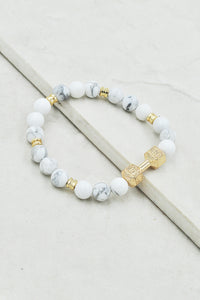 Avree Bracelet in Howlite