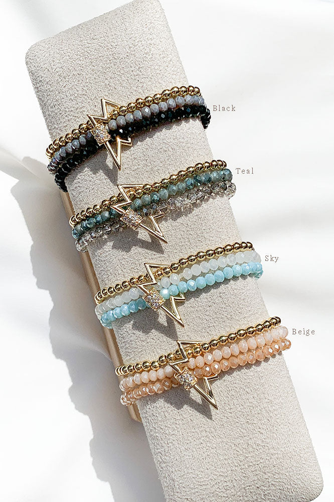 Bolt Lock Bracelet Stack