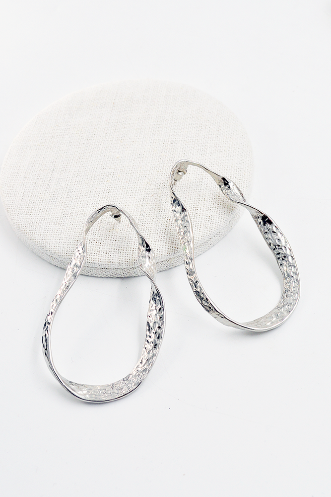 Chunky Irregular Geo Silver Earrings
