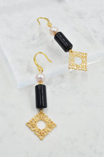 Aurelia Drop Earrings in Pearl