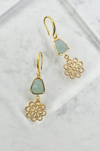 Jude Drop Earrings in Aquamarine