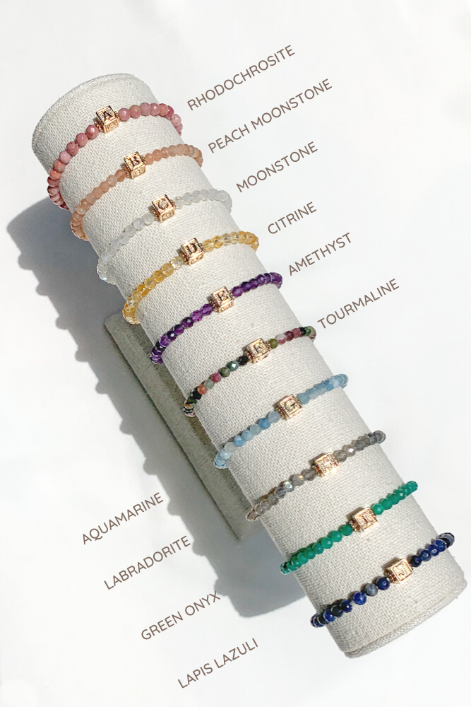 Gemstone Monogram Bracelet