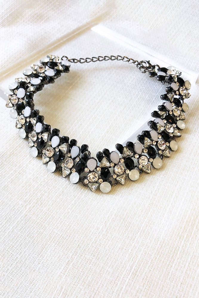 Chunky Linked Crystal Choker
