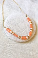 Crystal Duo Tone Beaded Necklace