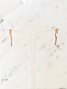 Crystal Duo Bar Earrings