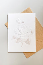 Embossed Rose Greeting Card