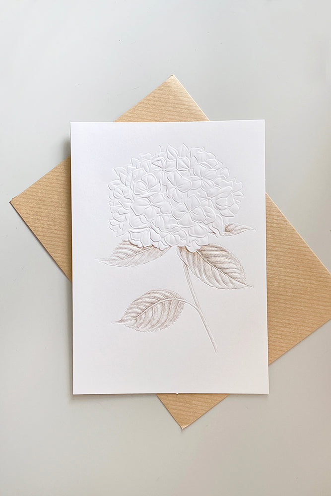 Embossed Hydrangea Greeting Card