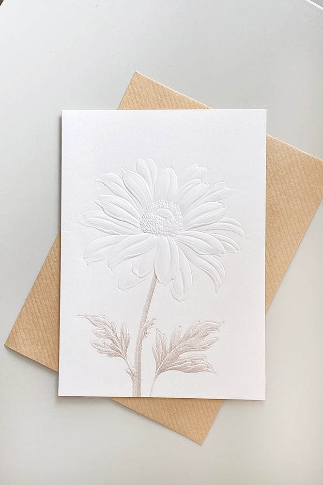 Embossed Sunflower Greeting Card