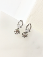 Pineapple Diamante Stud Earrings
