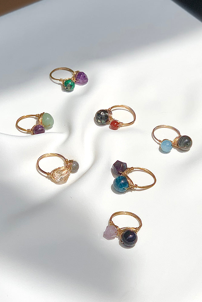 Wired Gemstone Rings