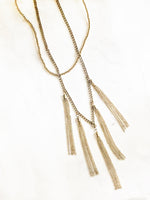 Chain Tassels Duo Length Necklace